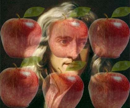 Newton with apples